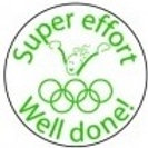 Super Effort Well Done Olympics Stamp  (ST256)