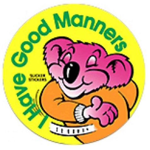 I have Good Manners Stickers  (498)