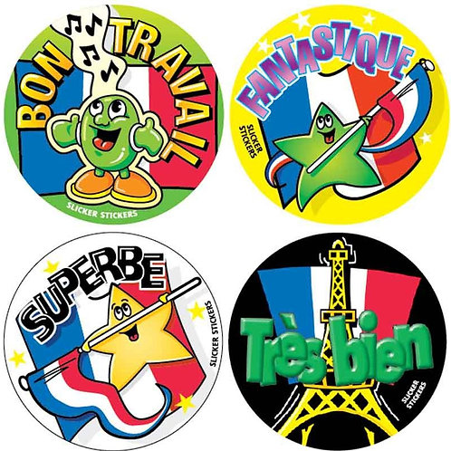 Mixed Pack French Stickers  (770)