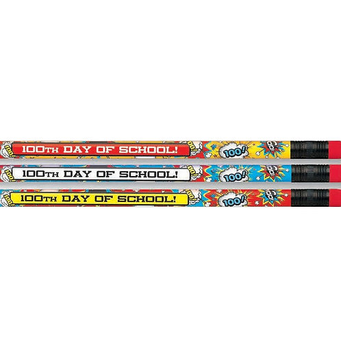 12pk 100th Day of School Pencils  (52171)