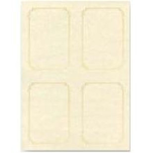 A4 Natural Parchment Testa'mur with Gold Foil Borders  (4225)