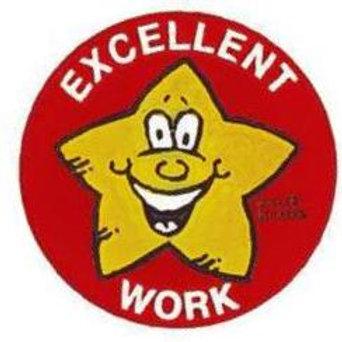Excellent Work Metallic Stickers  (359)