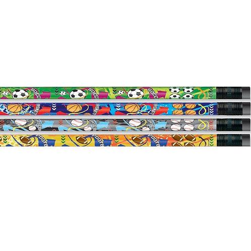 12pk Mega Sports Pencils  (52208)