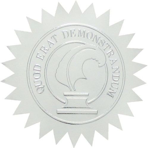 50mm Silver Certificate Seal  (S0702)