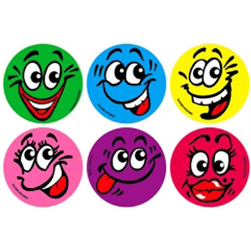 Colourful Face Multi Pack Stickers  (298)