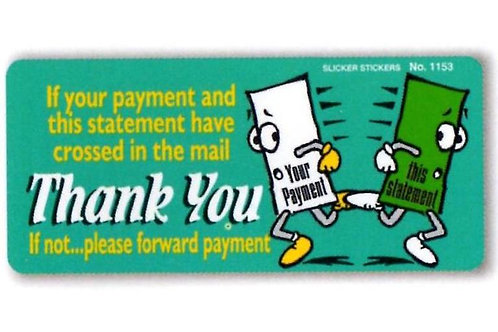 Please Forward Payment Account Stickers  (1153)