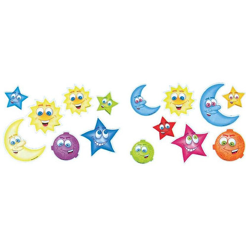 Suns, Moons, Stars Stickers  (677)