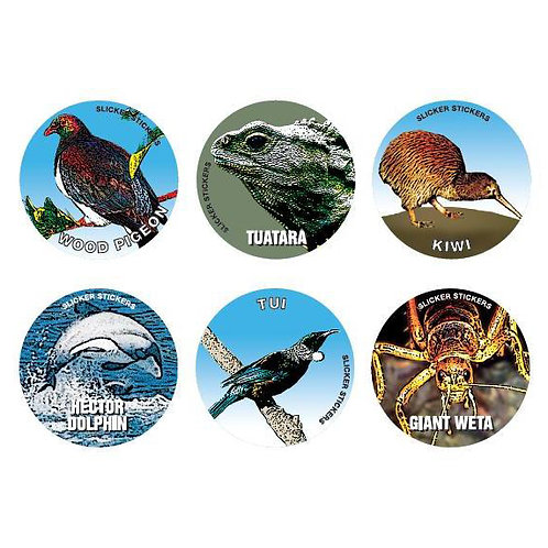 New Zealand Birds & Animals Stickers  (903)