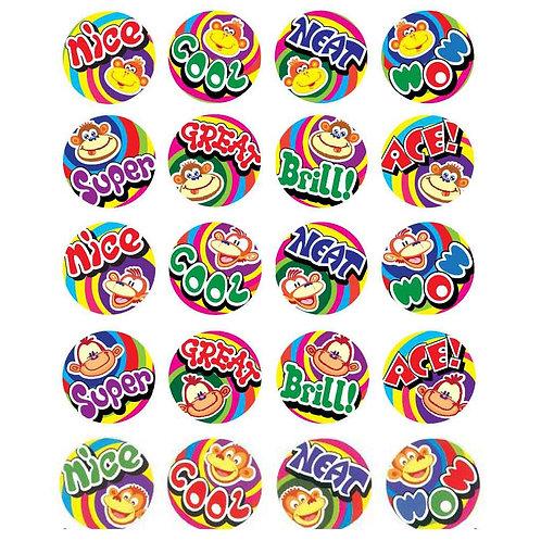 Nice/Cool/Neat Monkey Multi Pack Stickers  (254)