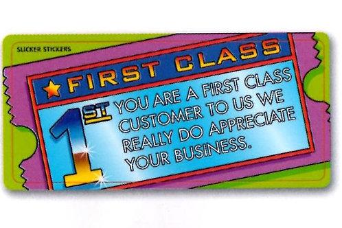 First Class Customer Stickers  (1321)