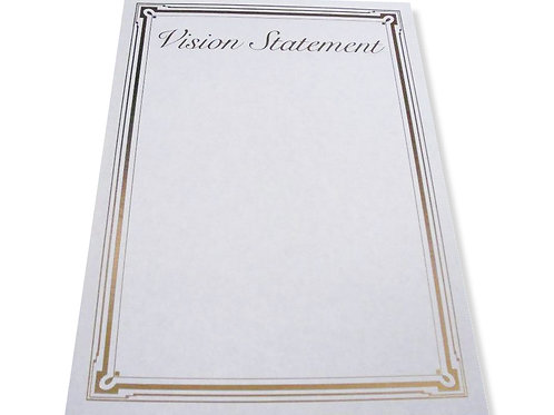 A4 Vision Statement Testa'mur with Gold Foil  (7301)