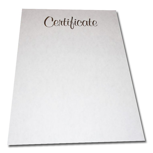 A4 Pewter Certificate Testa'mur with Gold Foil  (1071)
