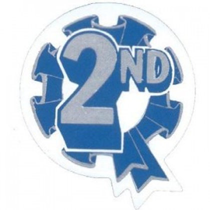 2nd Place Metallic Rosette Stickers  (276)