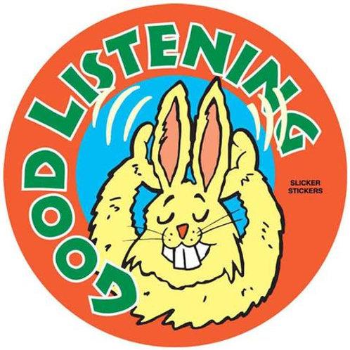 Good Listening Stickers  (500)
