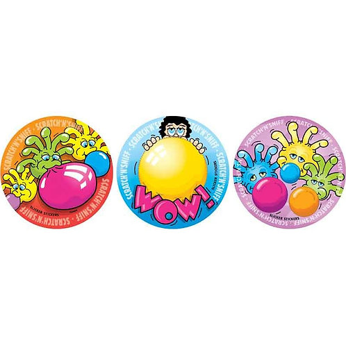 Scratch & Sniff Bubblegum Multi Pack Stickers  (948)