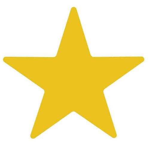Gold Metallic Star Stickers  (333)