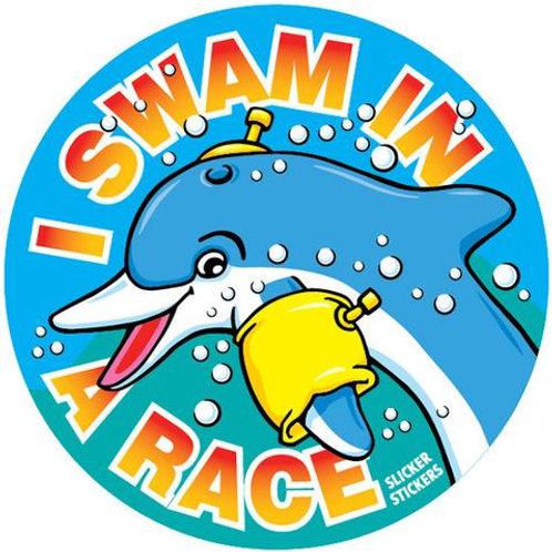 I Swam in a Race Stickers  (651)