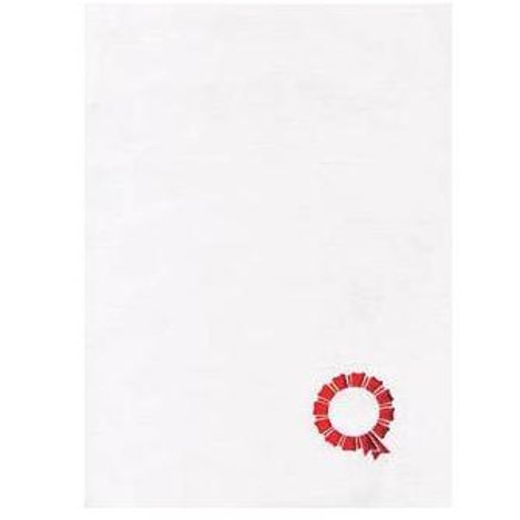 A4 White Antique Testa'mur with Red Seal  (8044)