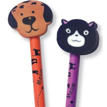 Cat/Dog Pencil with Eraser  (52970)