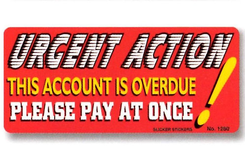 Urgent Action Account is overdue Stickers  (1280)