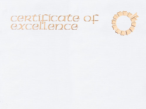 A4 Certificate of Excellence Testa'mur with Gold Foil  (1002)