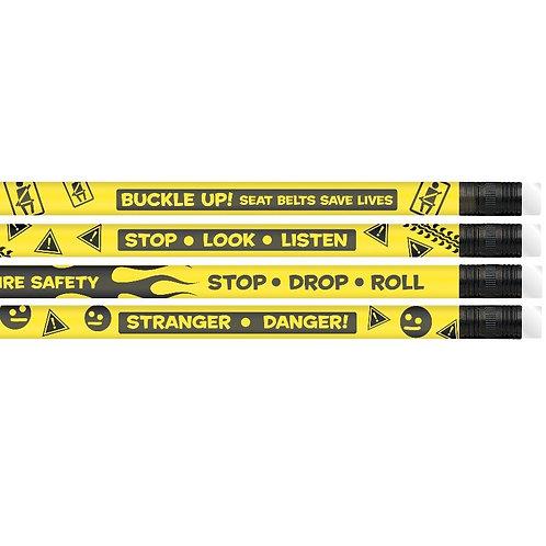 12pk Kids Safety Assortment Pencils  (52055)