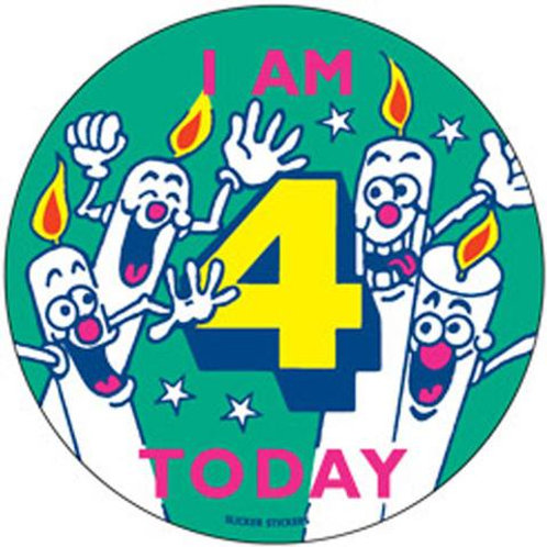 I am 4 Today Stickers  (242)