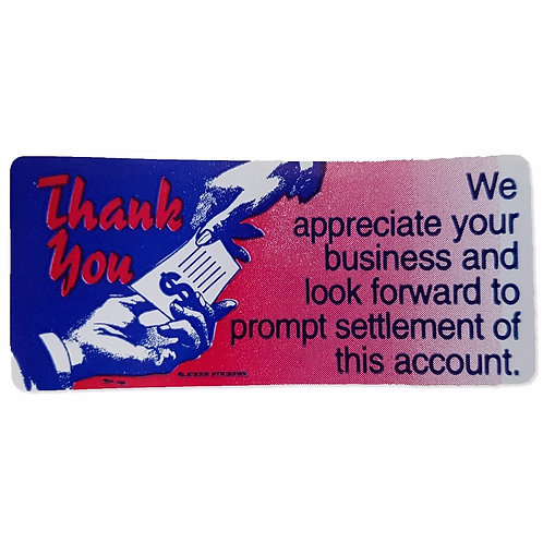 Thank you We appreciate your Business Stickers  (114)