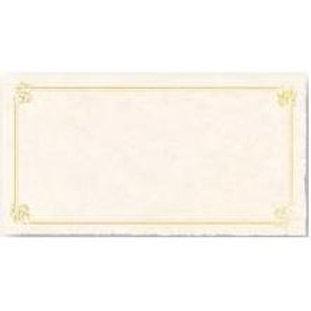 Sheet of 3 Certificates Testa'mur with Gold Foil  (3205)