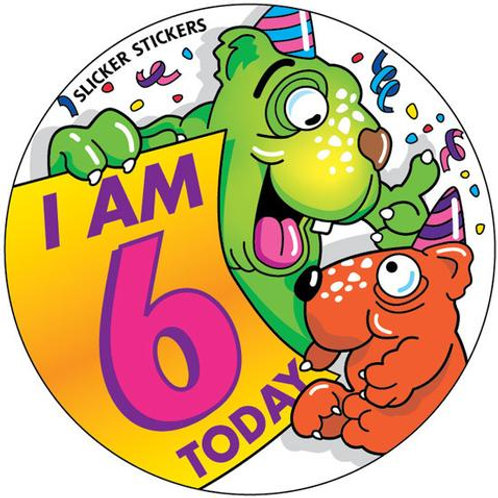 I am 6 Today Stickers  (244)