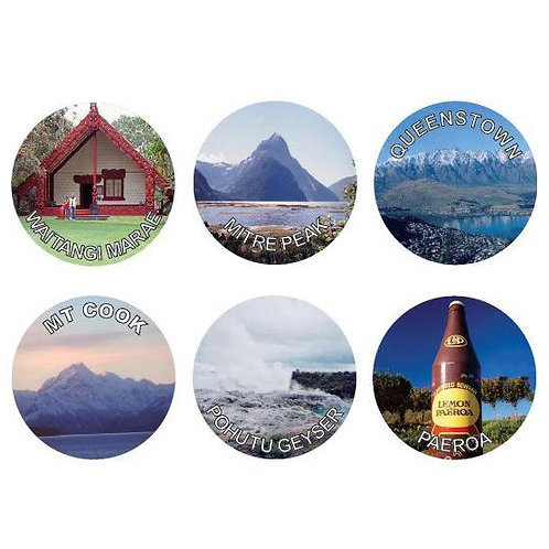 New Zealand Scenes/Places Stickers  (921)