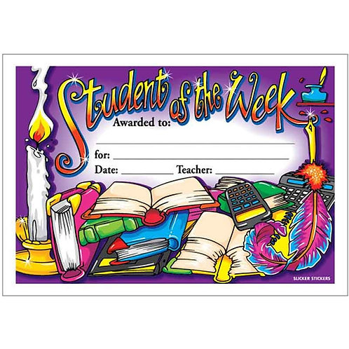 25pk Student of the Week Certificate  (5901)