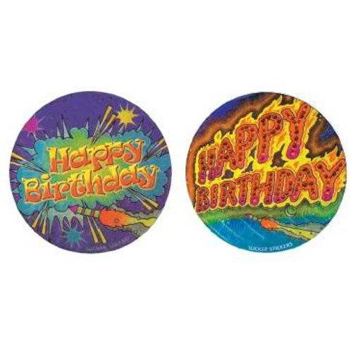 Happy Birthday Metallic Multi Pack Stickers  (550)