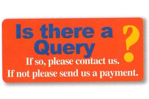 Is there a Query? Account Stickers  (1200)