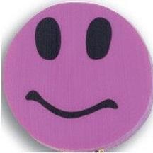 Purple Smiley Face Topper Eraser  (53010)