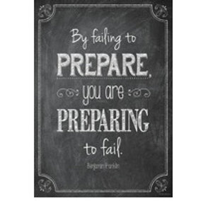 By Failing to Prepare you are Preparing to Fail Poster  (6695)