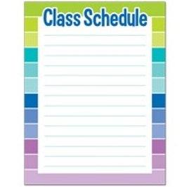 Class Schedule Poster  (1128)