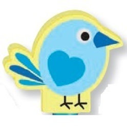 Blue Bird Topper Eraser  (53073)