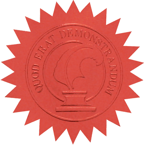 50mm Red Certificate Seal  (S0705)
