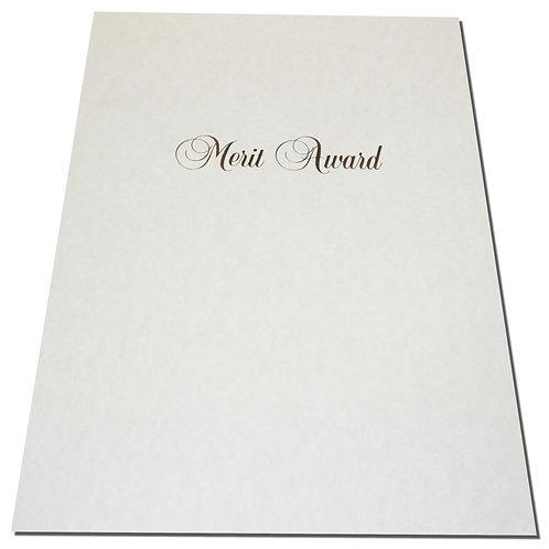 A4 Merit Award Testa'mur with Gold Foil  (1091)