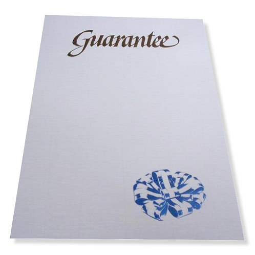 A4 Portrait Guarantee Testa'mur with Gold Foil  (1060)