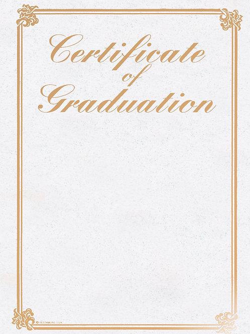 A4 Gold Foil Certificate of Graduation Testa'mur  (7226)