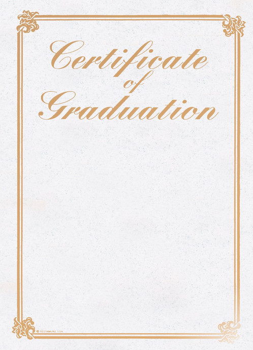 A4 Gold Foil Certificate Of Graduation Testamur 7226