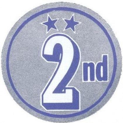 2nd Place Metallic Stickers  (269)
