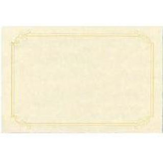 Sheet of 2 Natural Parchment Testa'mur with Gold Foil  (2225)