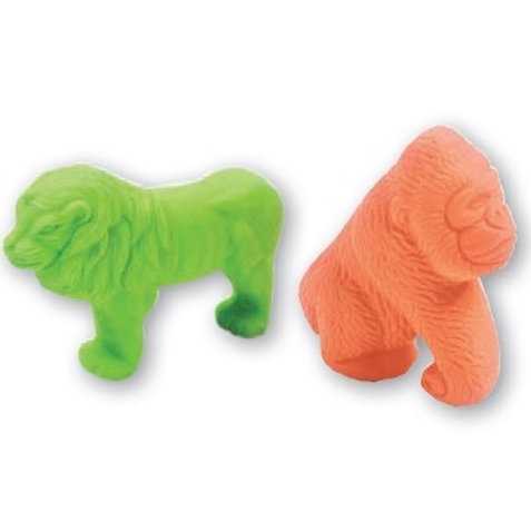 3D Animal Lion/Gorilla Eraser  (52943)