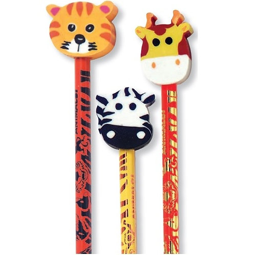 Zoo Animals Pencil with Eraser  (52974)
