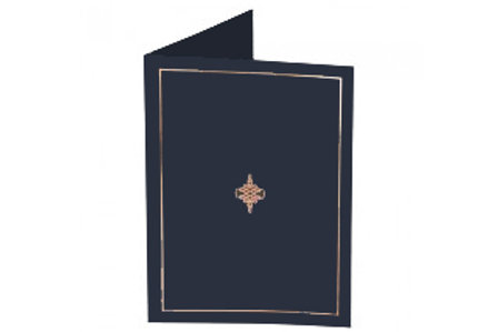 Navy Presentation Covers with Gold Border  (PC05)
