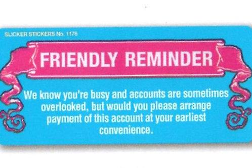 Friendly Reminder Account Stickers  (1176)