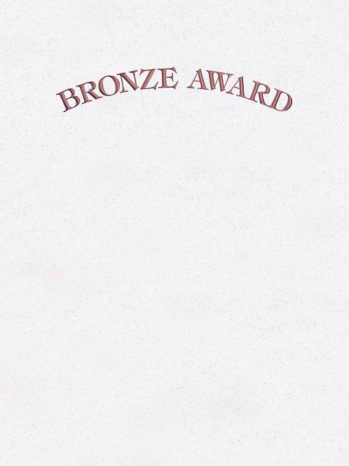 A4 Bronze Award Testa'mur with Bronze Foil  (1015)